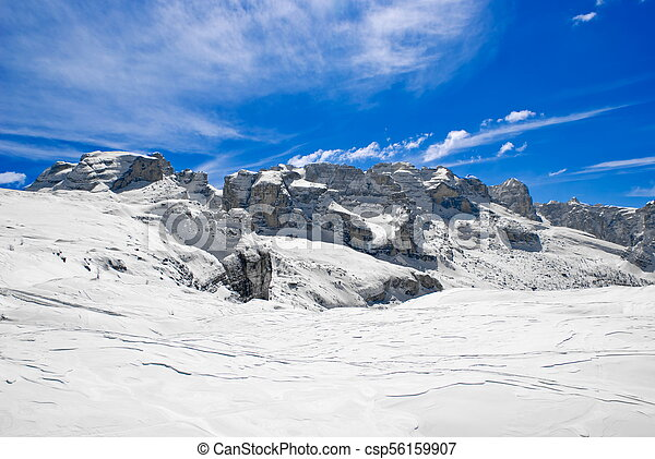 Alpine winter landscape - csp56159907