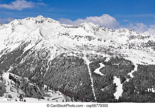 Alpine winter landscape - csp56779300