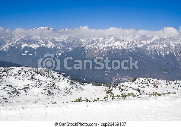 Alpine winter landscape - csp26469137