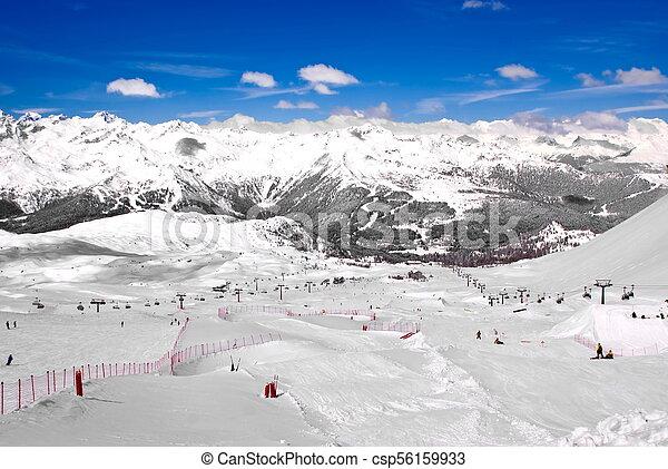 Alpine winter landscape - csp56159933
