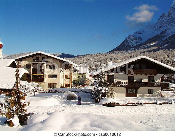 Alpine winter view - csp0010612