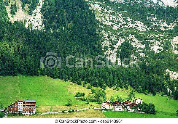 alpino, valle, dolomiti - csp6143961