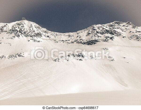 Alps in winter - csp64698617