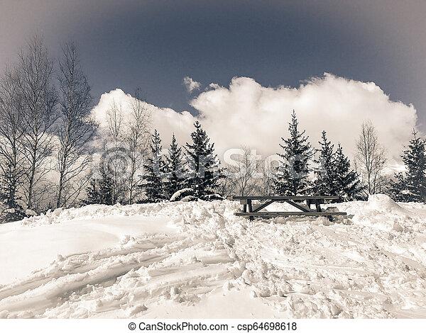 Alps in winter - csp64698618