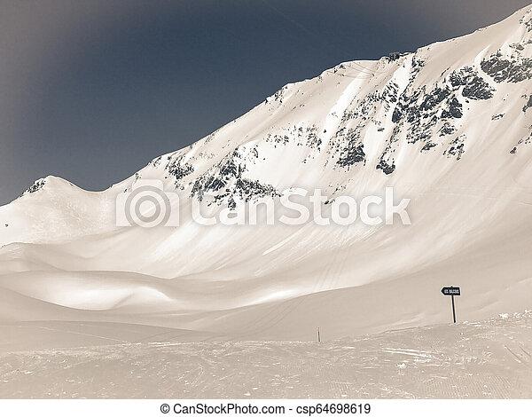 Alps in winter - csp64698619