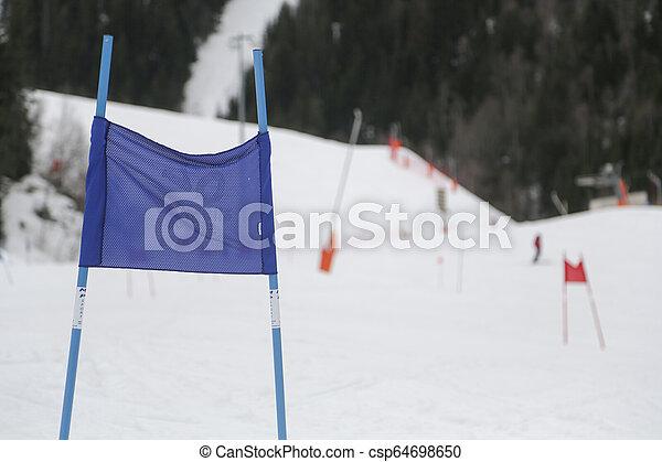 Alps in winter - csp64698650