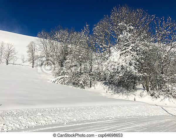 Alps in winter - csp64698653