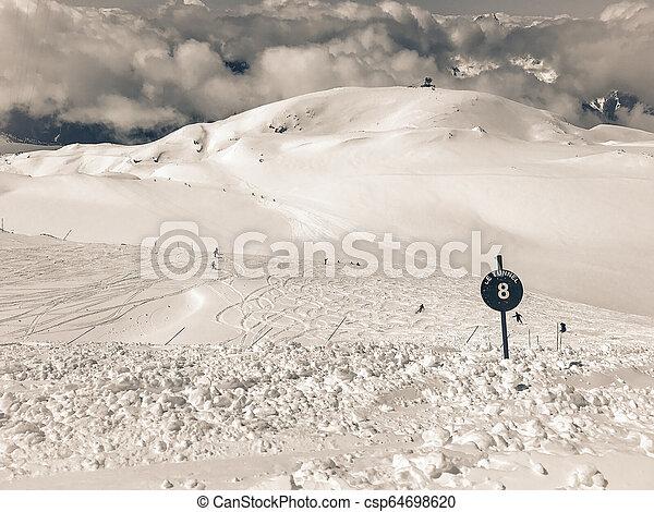 Alps in winter - csp64698620