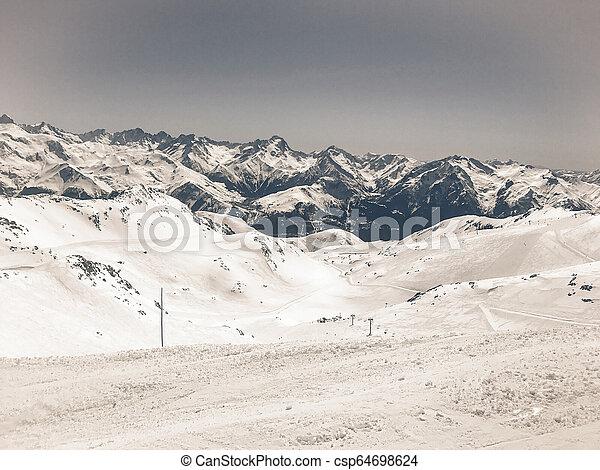 Alps in winter - csp64698624