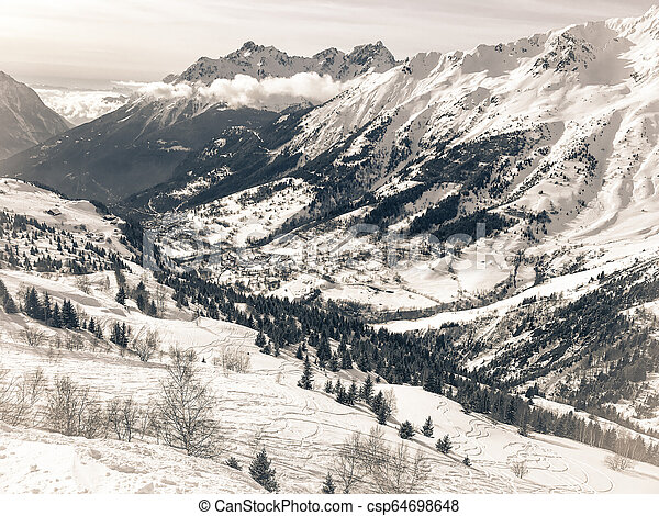 Alps in winter - csp64698648