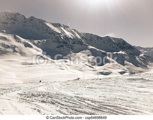 Alps in winter - csp64698649