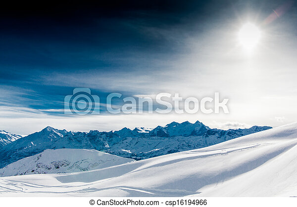 Alps mountain landscape. Winter lan - csp16194966