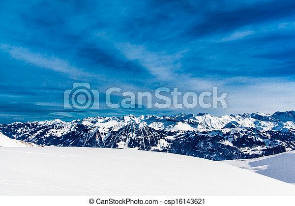 Alps mountain landscape. Winter lan - csp16143621