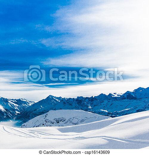 Alps mountain landscape. Winter lan - csp16143609