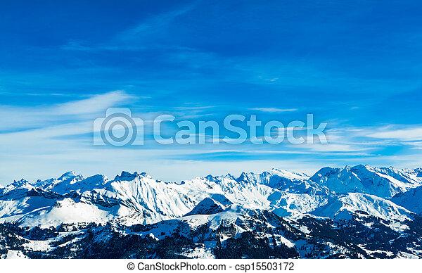 Alps mountain landscape.  Winter landscape - csp15503172