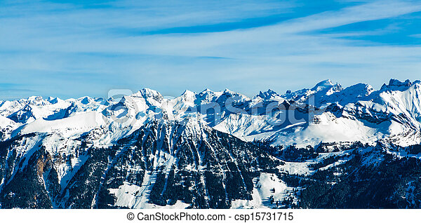Alps mountain landscape.  Winter landscape - csp15731715