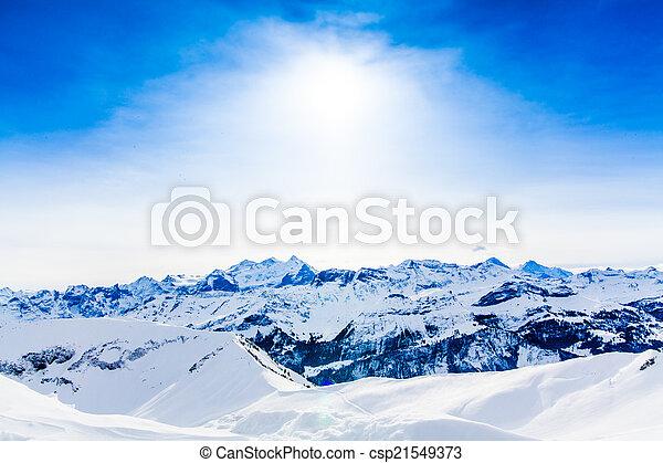Alps mountain landscape. Winter landscape  - csp21549373