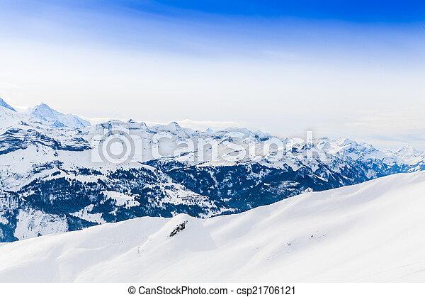 Alps mountain landscape. Winter landscape  - csp21706121