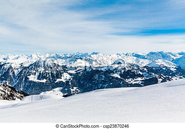 Alps mountain landscape. Winter landscape  - csp23870246