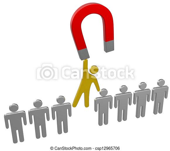 Magnet encuentra el grupo de contratantes - csp12965706