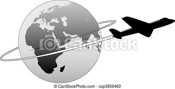 Las líneas aéreas viajan por el mundo - csp3856460