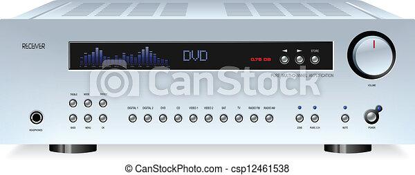 alta-fidelidade, som, estéreo, áudio, receptor - csp12461538