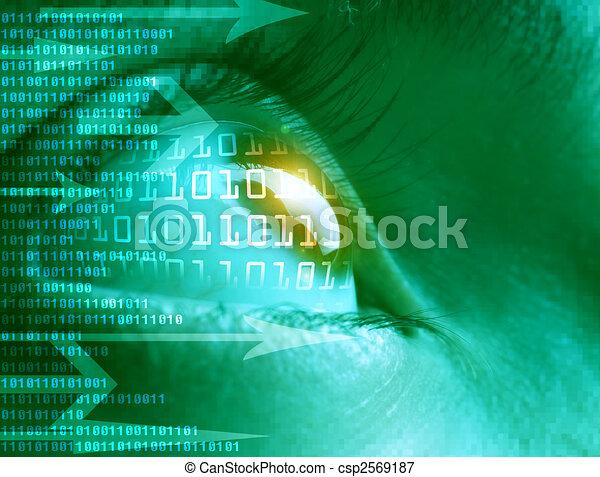 alta tecnologia, tecnologia, fondo - csp2569187