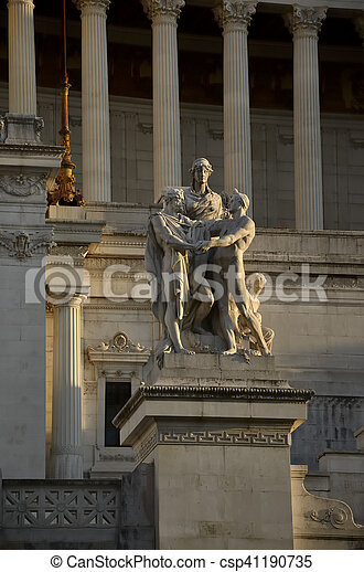 Altar of the fatherland Rome Italy - csp41190735