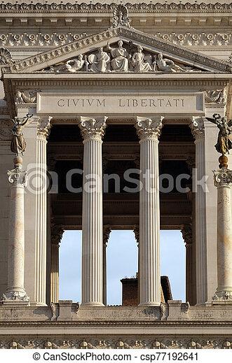 Altare della Patria, Venice Square, Rome, Italy - csp77192641