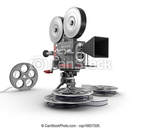 Filmkamera und Film - csp16837335