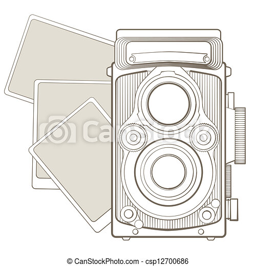 Vintage Fotokamera mit Vignette - csp12700686