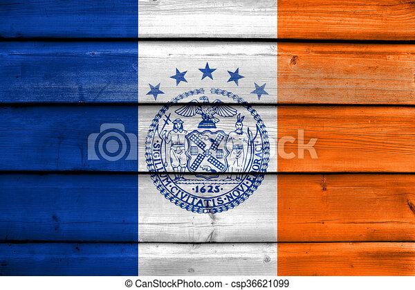 Alte Stadt Gemalt Fahne Holz York Hintergrund Neu Planke