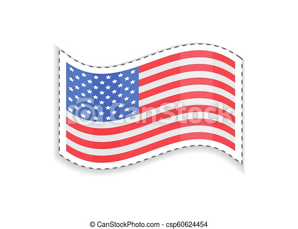 alter ruhm, usa, rechteckig, fahne, patriotisch, form - csp60624454