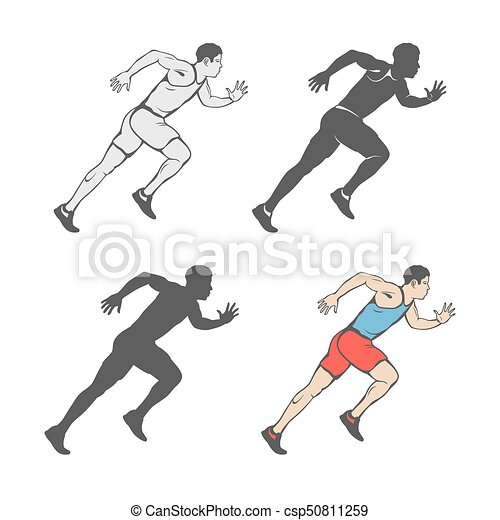 Alter Spint alter sprint marathon irgendein mann läufe satz clipart