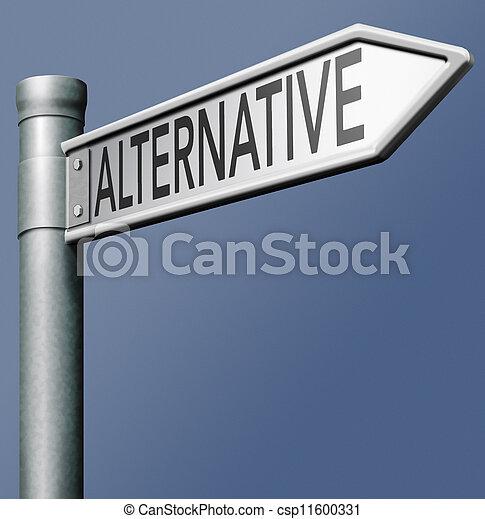 alternativ, vägmärke - csp11600331