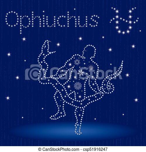 Signo de zodiaco alternativo con copos de nieve - csp51916247