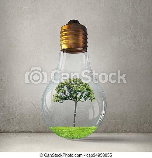 Alternative energy concept - csp34953055