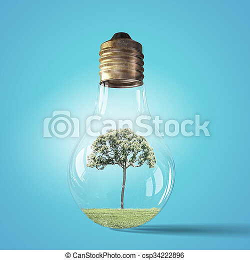 Alternative energy concept - csp34222896