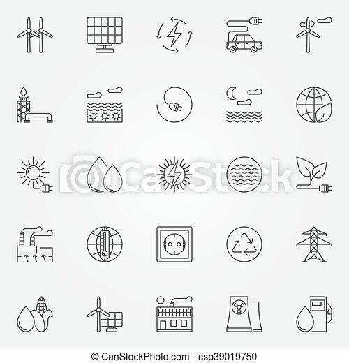 Alternative energy icons - csp39019750