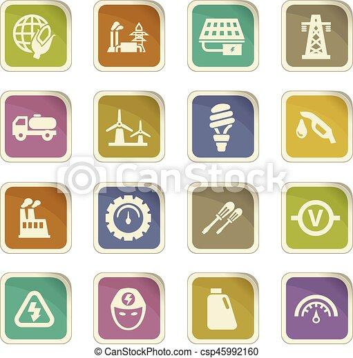 Alternative energy icons set - csp45992160