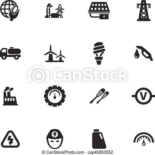 Alternative energy icons set - csp45853552