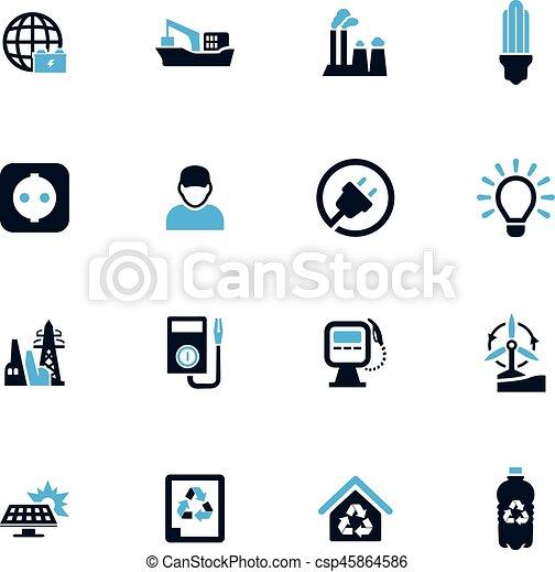 Alternative energy icons set - csp45864586