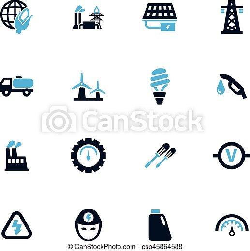 Alternative energy icons set - csp45864588