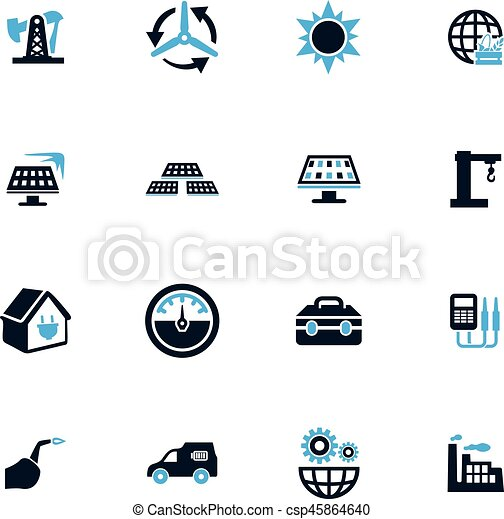 Alternative energy icons set - csp45864640