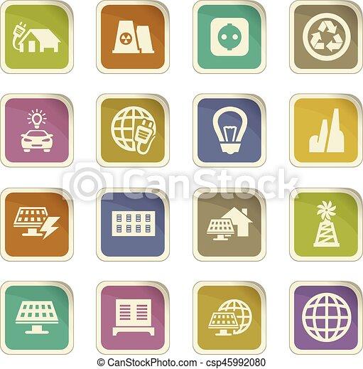 Alternative energy icons set - csp45992080