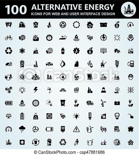 Alternative energy icons set - csp47881686