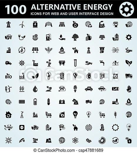 Alternative energy icons set - csp47881689