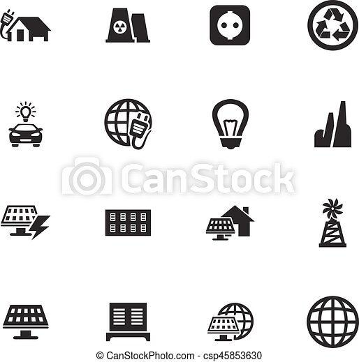 Alternative energy icons set - csp45853630