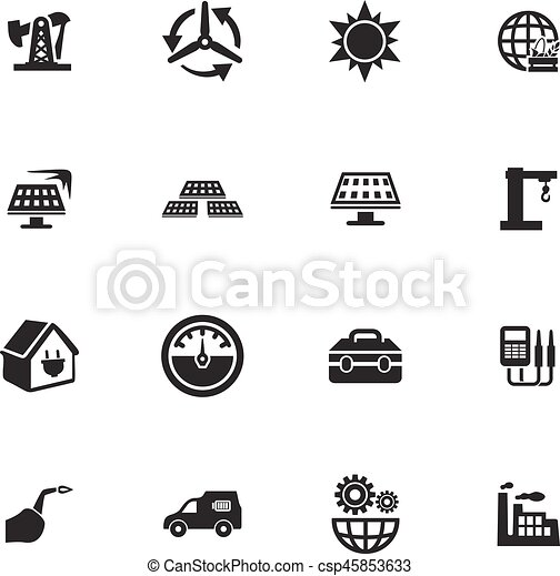 Alternative energy icons set - csp45853633