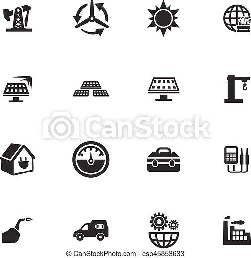 Alternative energy icons set - csp45853633